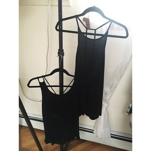 Set of Strappy Black Shirts Size Small